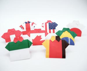 国旗メモ(折り紙)