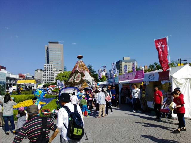 フラワーフェスティバルは快晴です!