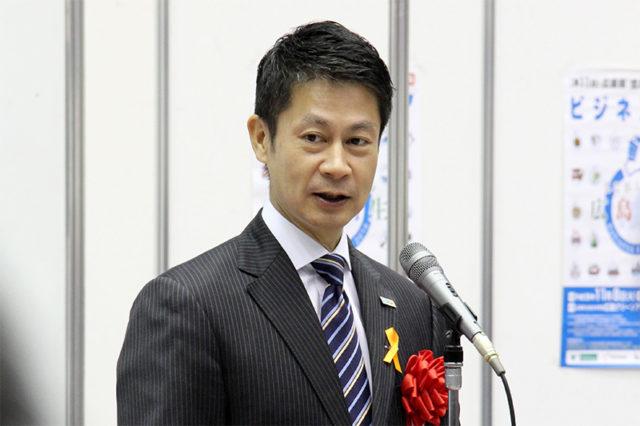 ビジネスフェア 湯崎知事ごあいさつ