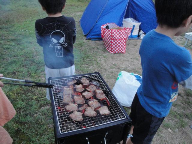 キャンプで焼肉