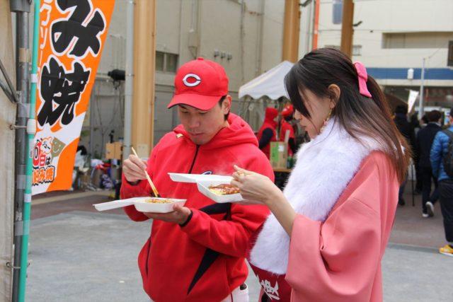 ミス宮島小畠さんとマネケンの食レポ