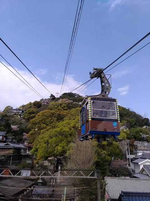 千光寺山ロープウェイでいよいよ空散歩