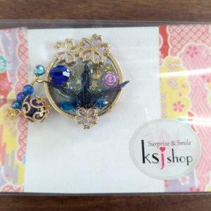 手づくり折り鶴 帯留め(KSJ Shop)