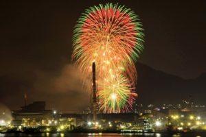 呉の夏まつり「海上花火大会」
