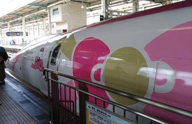 ハローキティ新幹線の外装