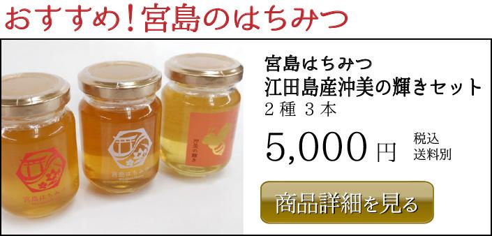 おすすめ!宮島のはちみつ 宮島はちみつ 江田島産沖美の輝きセット 5,000円