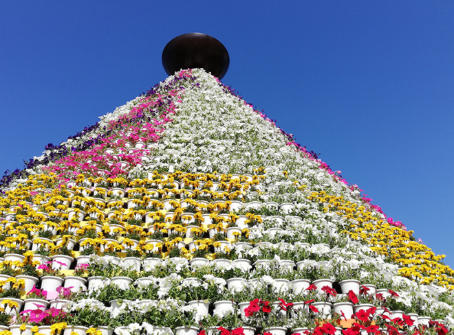令和元年の花の塔